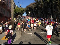 , San Francisco, CA, It's not a race, it's a zoo! Lot of fun during the world famous Bay to Breakers race in San Francisco ... Centipede, flying tortillas, nudity, costumes, infamous slope on Hayes before the painted ladies, then Golden Gate Park all the way down to the breakers, to finally enjoy a chilly swim in the Pacific. Count me in next year B2B!