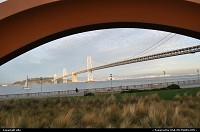 California, Rincon Park and Cupid's Span. In the background the oakland bridge