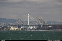 , San Francisco, CA, Taking bay bridge old east span down, one beam at a time