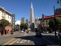 , San Francisco, CA, Transamerica Building from North Beach neighborhood, a true icon in the city and one of the greatest building in the USA in my opinion.