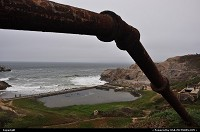 San Francisco : Draining pipe from nowhere by Cliff House neighborhood in San Francisco