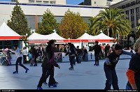 Photo by elki | San Francisco  san francisco, union square, ice rink, christmas