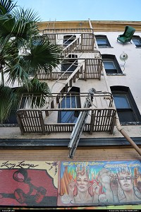 Photo by elki | San Francisco  falling furniture