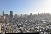 overview of san francisco, from coit tower