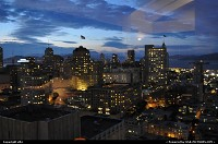 san francisco overview by night from hyatt lounge