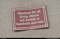 funny warning sign at at&t park