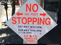 , San Francisco, CA, preparing street for By to Breakers famous san Francisco race !!