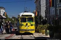 A streetcar awaiting its next trip here in the iconic Castro neighbourhodd, nested between Twin Peaks and Market Street.