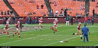 Warming up before the game, 49 ers san francisco