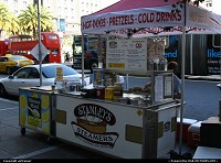 Photo by airtrainer | San Francisco  hot dogs, pretzels, union square