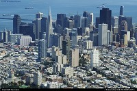 Photo by tiascapes | San Francisco  San Francisco, aerial, downtown, skyline