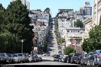 Filbert Street, seen here from Washington Square, on the way to Coit Tower on the opposite side...