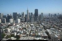 Overview of dowtown San Francisco from the coit tower