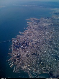 Awesome overview of San Francisco Bay while climbing on the way back to Paris France