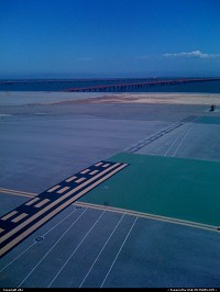 San Francisco International aiport, about to take off, going back to France.