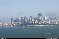 San francisco appear from fog who can come again and hide the city in less than 5 minutes.