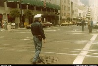 A traffic officer on location at Sutter Street