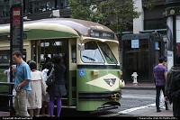 How cool are these vintage street cars roaming around San Francisco? Every single one holds it share of history. You will see street cars from all around the country serving now SF.. I personally like the green and creme livery!