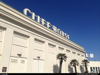 The famous Cliff House restaurant by the
