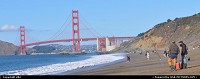 San Francisco : golden gate bridge, baker beach