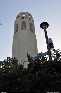 San Francisco : coit tower, at the top of telegraph hill
