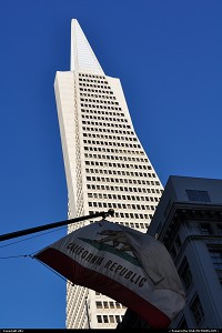 The Transamerica Pyramid is the tallest and most recognizable[citation needed] skyscraper in the San Francisco skyline. Although the building no longer houses the headquarters of the Transamerica Corporation, it is still strongly associated with the company and is depicted in the company's logo. Designed by architect William Pereira, at 260 m (850 ft), upon completion it was among the five tallest buildings in the world.[4]