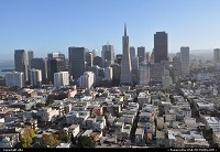 Financial district overview from the coit tower