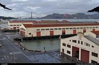 Fort Mason, this old military facility is now a complex shop, restaurant, museum.