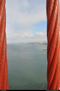 Le Golden Gate Bridge est un pont suspendu qui traverse le