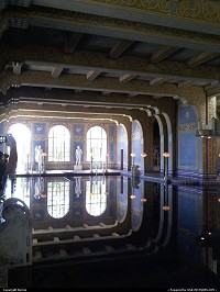 The late William Hearst's private covered pool