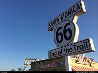 Santa Monica : End of route 66 on Santa Monica Pier