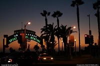 Santa Monica : By night at the Pier, Santa Monica. Another cliché of the California Dreamin' spirit!