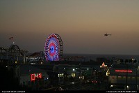 The Santa Monica Pier at Sunset. Very iconic in California. Sweet!