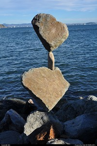 Photo by elki | Sausalito  bill dan, rock balancing, sausalito