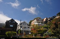 Houses hung on the cliff, Sausalito