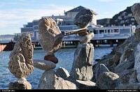 Photo by elki | Sausalito  rock balancing, bill dan, sausalito