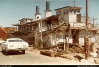 Withdrawn from use as a ferry, up to start another life as a waterfront house.