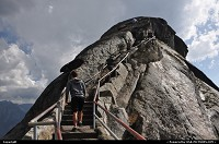 Sequoia, , CA, Climbing the stairs to the top of Moro Rock