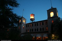 Water tank/Fairmont hotel by night in Sonoma, gateway to great winneries!