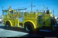 Van Nuys : Another LAFD station 90's all yellow finished fire engine specifically appointed to Van Nuys airport.