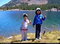 Photo by outofthisnature |  Yosemite kids, lake, fish, catch, Tioga Lake