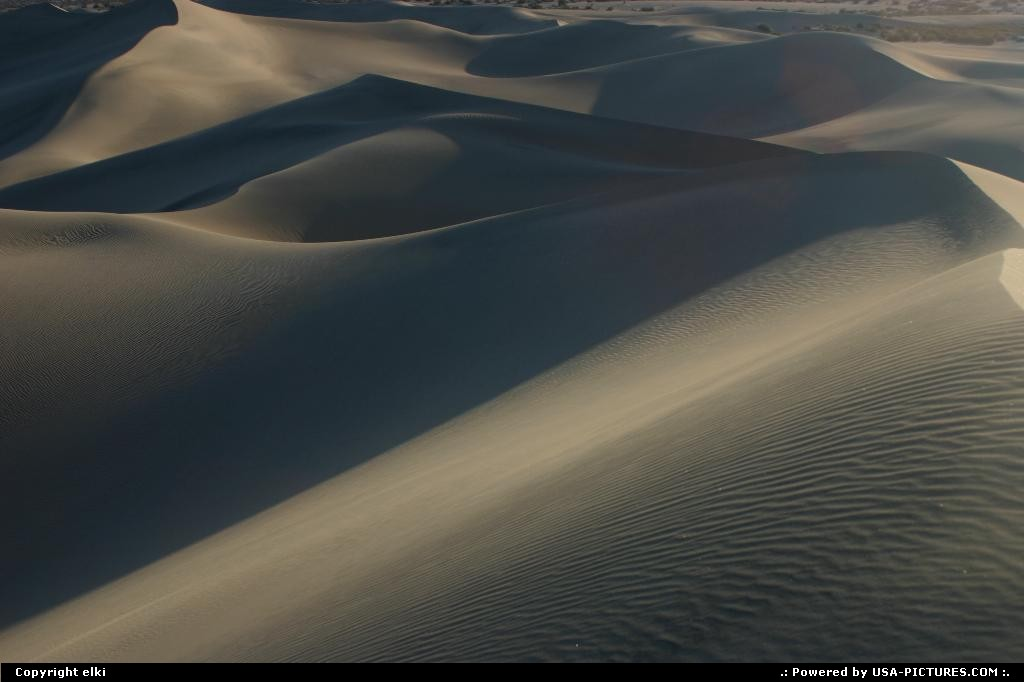 Picture by elki:  California Death Valley Sand Dunes sand dunes death valley