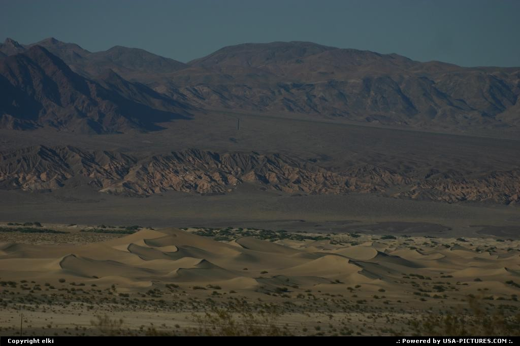 Picture by elki:  California Death Valley Sand Dunes sand dunes vallée de la mort Death valley