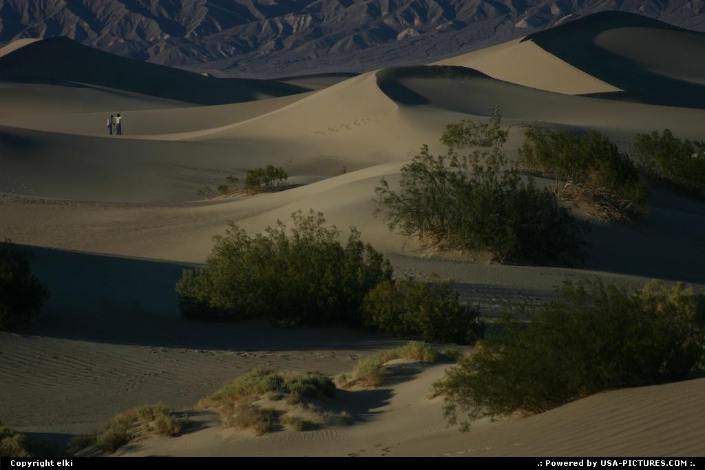 Picture by elki:  California Death Valley Sand Dunes Ddeath Valley Vallée de la mort Sand dunes