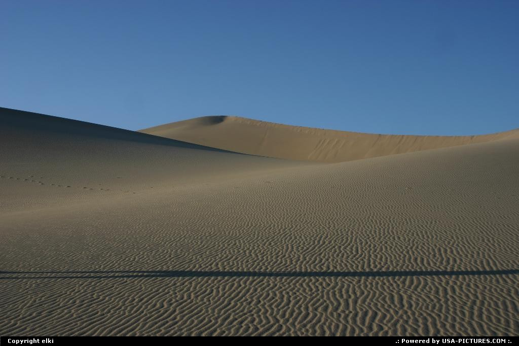 Picture by elki:  California Death Valley Sand Dunes Death Valley Vallée de la mort sand dunes