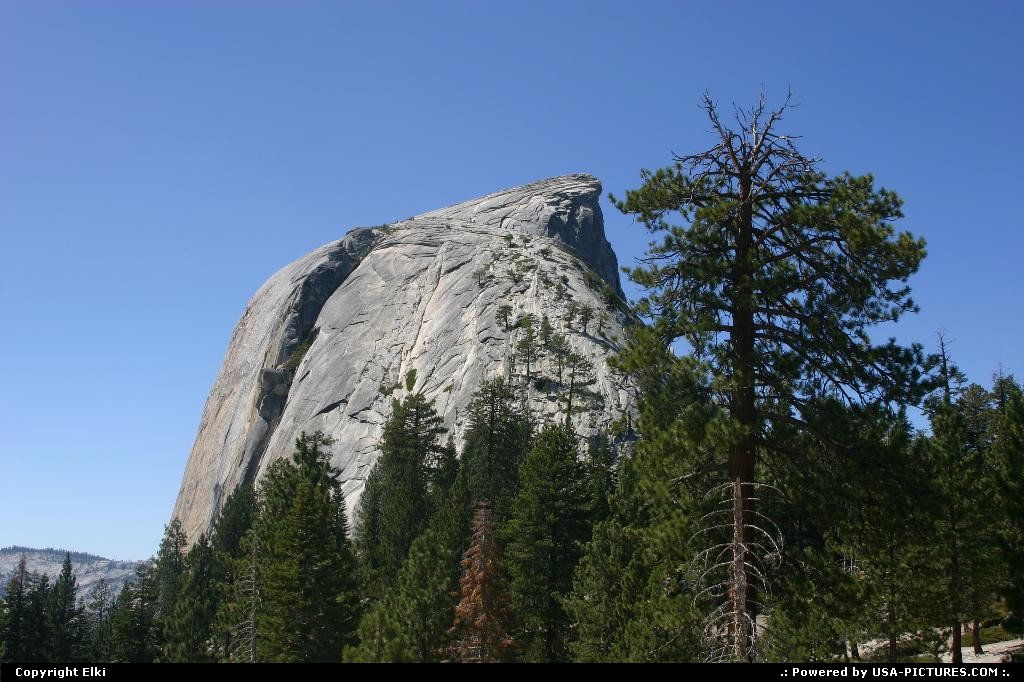 Picture by elki:  California Yosemite Half Dome hike, extreme hike