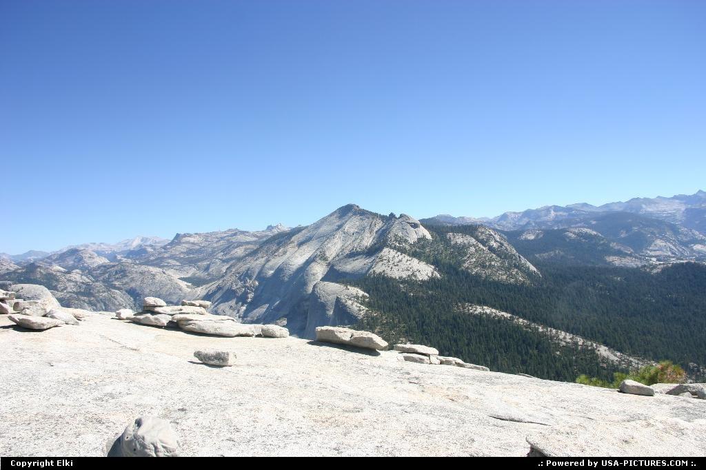 Picture by elki:CaliforniaYosemiteHalf Domehike, extreme hike