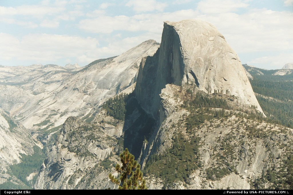 Picture by elki:  California Yosemite Glacier Point hike, extreme hike, vertigo
