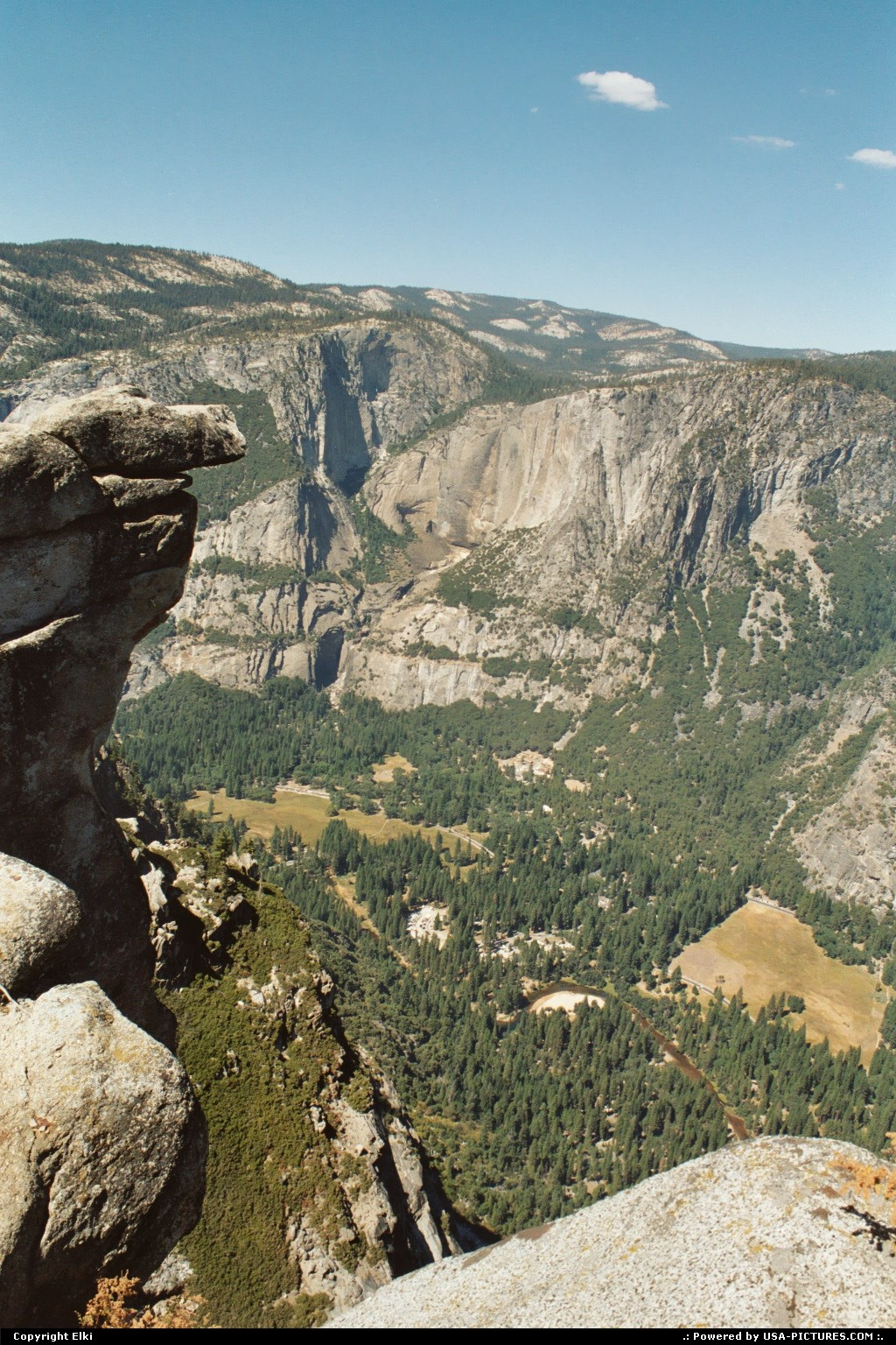 Picture by elki:  California Yosemite  hike, extreme hike