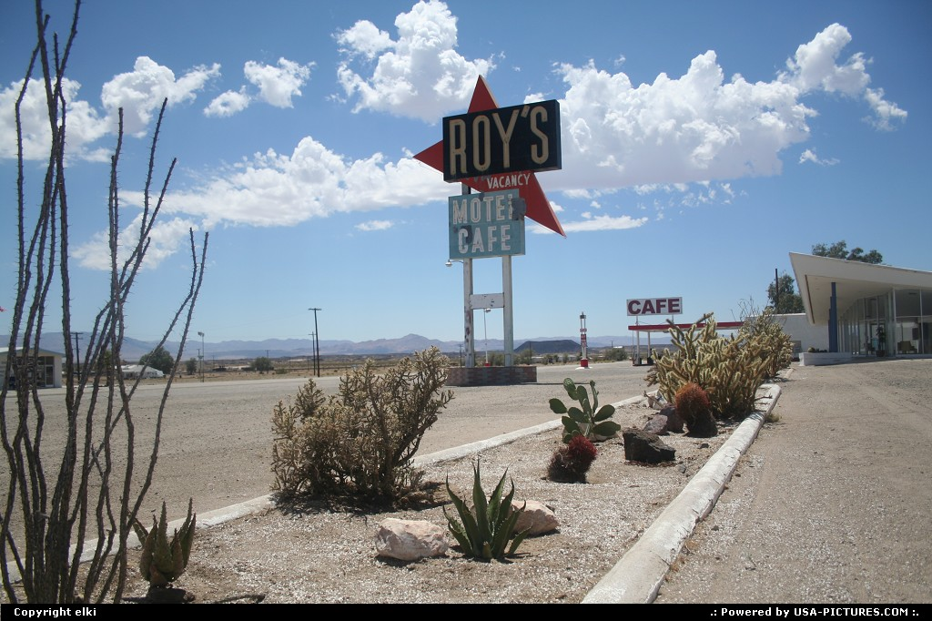 Picture by elki: Amboy California   amboy roy's